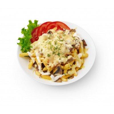 Запеченная телятина с картофелем и грибами